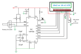 embedded engineering rotary encoder interfacing pic schematic pic18f458