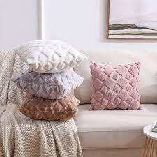 china plush throw pillow customized two