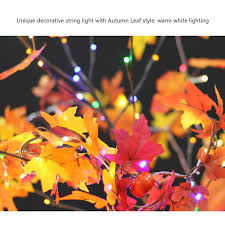 Fall Color String Lights Us 2 15 44 Off Colth Maple Leaves Fairy Light Mixed Color Orange Yellow Leaf Autumn String Lights 10led Fall Decoration Battery Operated In Lighting