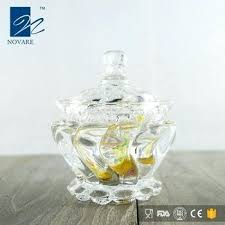 glass candy bowls crystal sugar bowl and jar with lid small