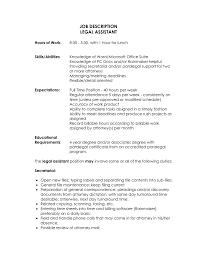 Paralegal Job Description For Resume Stylist Design Job Description Of A Paralegal Sample Legal Secretary 3