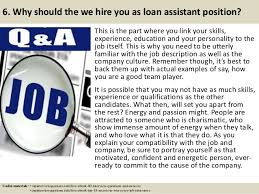 7 6 loan officer assistant job description