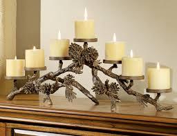 metal pinecone candelabra
