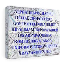 Over the phone or military radio). Amazon Com International Phonetic Alphabet Map Art Print Gift For Pilot Blue Nursery Decor Handmade
