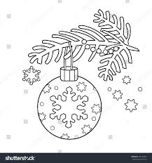 Coloring Page Outline Christmas Decoration Christmas Stock Vector