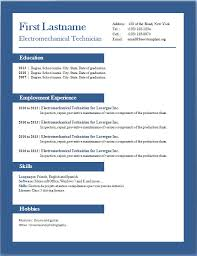 Resume Example Word Document Professional Resume Format In Word