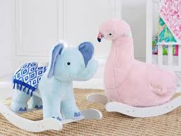 flamingo and elephant nursery rockers 199 each