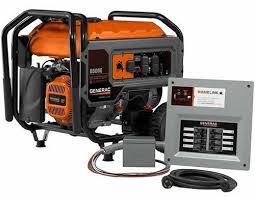 Generac Generator HomeLink 6500E 6500 Running Watts Gas Portable