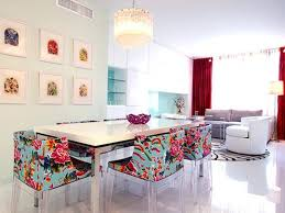 colorful fl dining chairs apartment therapy throughout prepare 11