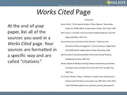 Creating Citations And Works Cited Page Objective Students Will