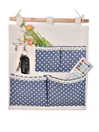 wall hanging storage. Fine Storage Moolecole Pastoral Style Blue Polka Dots Printed CottonLinen Fabric Wall  Hanging Organizer 4Pockets Door Storage Bag Shelves  On I
