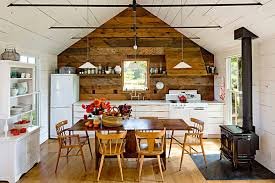 View in gallery Rustic kitchen and dining space