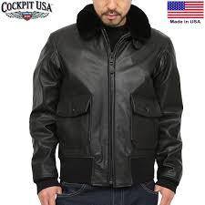 cockpit usa cockpit military spec g 1 leather flight jacket black leatherette jacket g