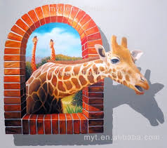hot deer animal 3d wall painting handpainted oil painting on canvas wall picture home decoration
