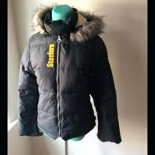 steelers winter coat puffy jacket