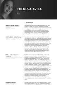 Adjunct Faculty Online Resume samples