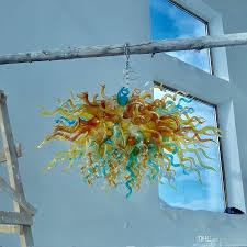 Kronleuchter Beleuchtung Moderne Wohnzimmer Esszimmer Schlafzimmer Led Deckenleuchten Europäischen Chihuly Stil Mundgeblasenem Glas Kronleuchter