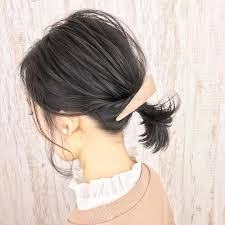 今オトナ女子に最も人気の髪型はボブポニーテールでした Locari