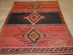 old caucasian kilim rug striking design with soft faded colours circa 1920