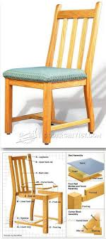 dining room chair plans furniture plans and projects woodarchivist