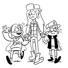 Gravity Falls Coloring Pages Best Coloring Pages For Kids