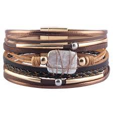 azora womens leather cuff bracelet