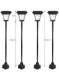 Energizer Solar Lights New 4 Pack Energizer Outdoor Solar Lamp Post Garden Lawn Yard Walkway Led Light
