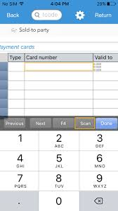 note you will find only numerical keyboard to enter the card details manually as credit card number contains only numerical digits