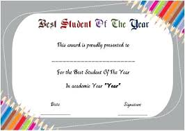 Student Of The Year Award Certificates Best Certificate Template Pdf ...