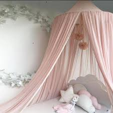 Elegant Baby Bed Canopy Round Mosquito Netting Curtain for Kids Room Decor Hanging Crib Baby Mosquito Net 50*240*260cm Tent