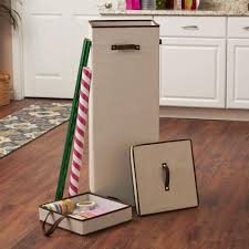 Tall Wrapping Paper Organizer Storage Box with Lift-Out Ribbon Tray - Free  Shipping On Orders Over $45 - Overstock.com - 21323923
