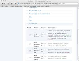 go to exle q admin build moduleake sure xml sitemap menu is enabled