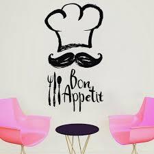 Chef Quotes Impressive Chef Mustache Kitchen Vinyl Sticker Cooking Tall Chef Quotes Bon
