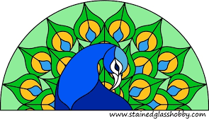Stained Glass Pattern New Peacock Stained Glass