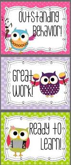 Owl Behavior Clip Chart Cute Owls Behavior Clip Chart Works Great To Draw Attention