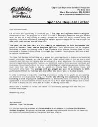 Donation Request Letter Template Word Sample For Sports Fundraising