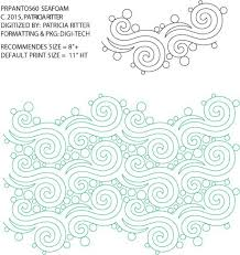 173 best Quilting Pantographs images on Pinterest | Quilting ... & Seafoam - Pantograph By Patricia Ritter Adamdwight.com