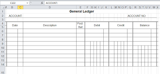 accounting ledger template general ledger template and free download