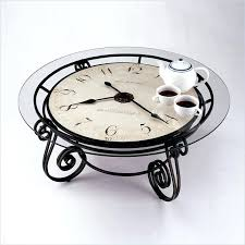 clock table round metal clock coffee table miller round coffee table this polar clock tableau clock tablet painting