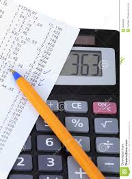Household Expenses Calculator Bill And Calculator Stock Photo Image Of Added Electronics