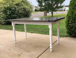 Amazoncom Country Farmhouse Dining Table With Classic Gray Stained