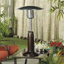 az patio heater portable hammered bronze and gold tabletop heater com