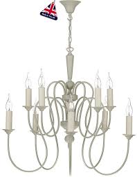 david hunt therese large 10 light chandelier french cream