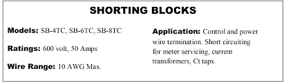 current transformer shorting blocks we stock three different sizes of ct shorting blocks we can normally ship the same day on all sizes in large quantities there be a few days delay in