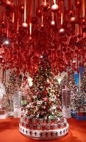 Macy's Christmas Decoration Shop New York City! Love the ceiling decorations,  i was thinking of doing that around my tree this not so many.