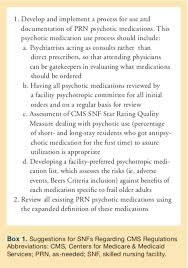 New Cms Rules On Psychotropic Medications In Snfs