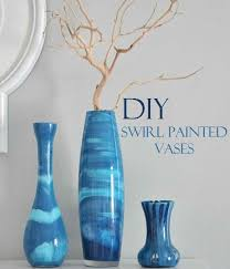 beautiful diy swirl painted vases