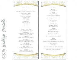 Wedding Ceremony Brochure Wedding Program Template