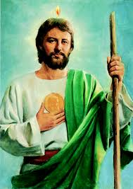 why is st jude holding a medallion