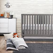 Trend Lab 3pc Crib Bedding Set – Ombre Gray Tar